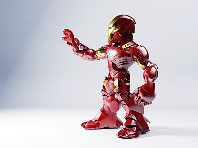 Iron Man 2: Mark VI Super Deformed Statue